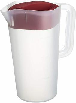 1/2 Gallon Straining Pitcher Square Lid w/3 Strainers Dishwa