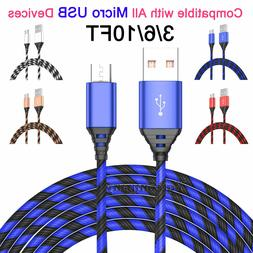 2-Pack LOT Micro USB Cable Fast Charge Data Sync Charger Cor