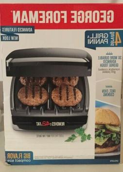 George Foreman 4-Serving Nonstick Classic Contact Grill, Bla