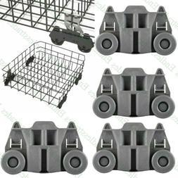 4X Dishwasher Dishrack Wheels Lower Rack For Kenmore Kitchen