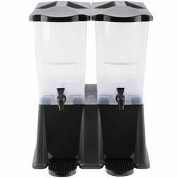 6 gallon black double nsf plastic cold