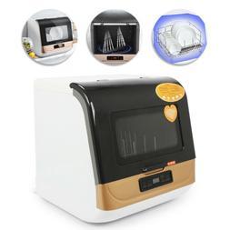 9-Liter Compact Portable Countertop Dishwasher 360° Streak-