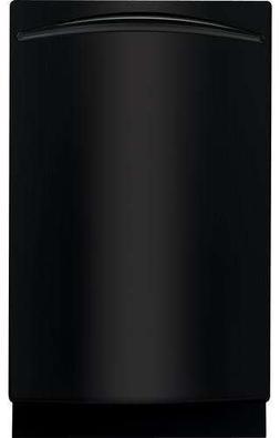 "Ge - Profile Series 18"" Built-in Dishwasher - Black"