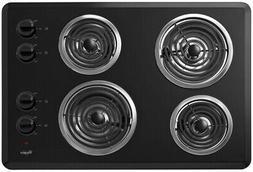 "Whirlpool - 30"" Built-in Electric Cooktop - Black"