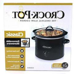 Crock-Pot 2-QT Round Manual Slow Cooker Black SCR200-B Class