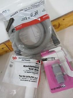 Eastman Dishwasher Drain Kit Drain Hose 6 Ft & Air Gap & Dra