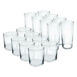 durable 16 piece water juice tumbler set