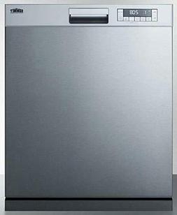 Summit DW2435SS 24 Inch Built In Fully Integrated Dishwasher