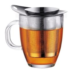 Bodum K11239-16 New Yo-Yo Set Glass and Tea Strainer, 12 oz,