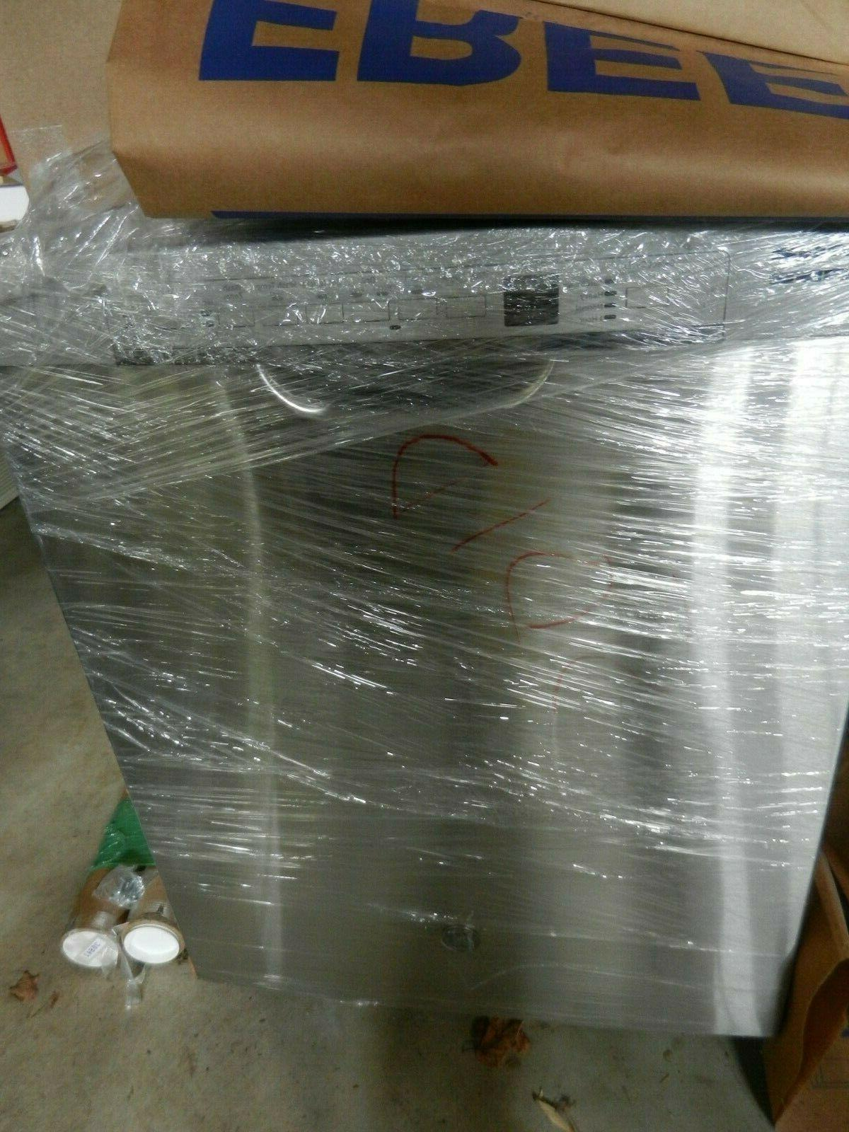 """GE 24"""" Built-In Tall Dishwasher in Steel"""
