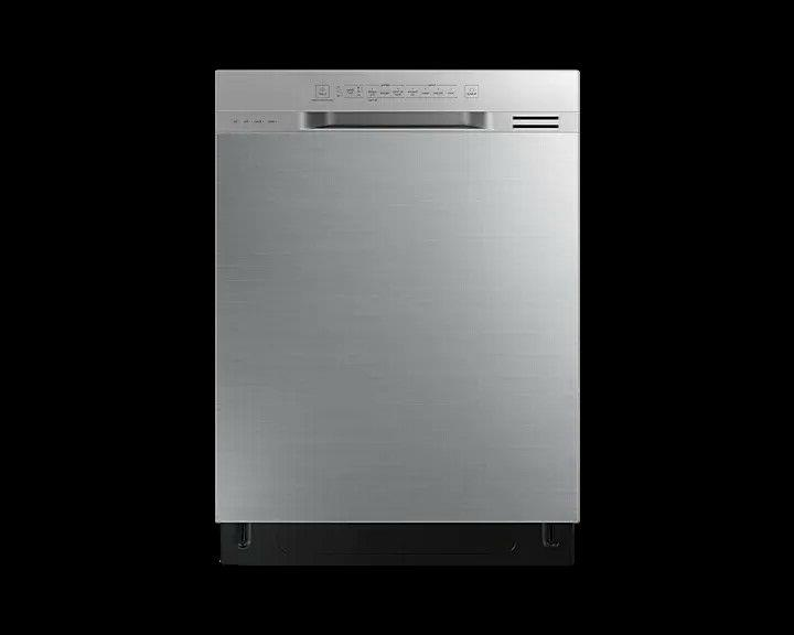 24 in stainless steel front control dishwasher