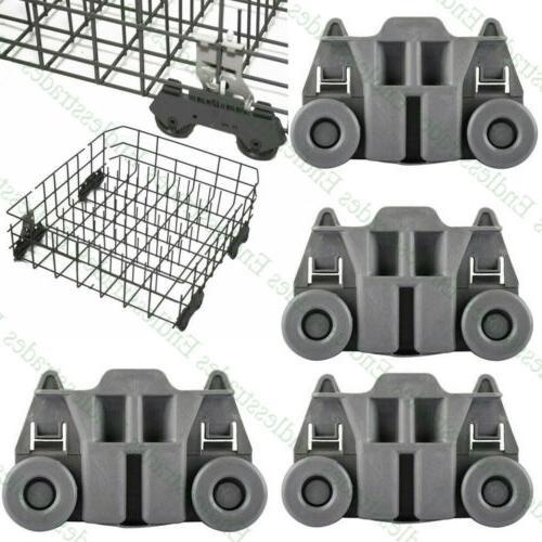 4pcs dishwasher wheel plastic lower dish rack