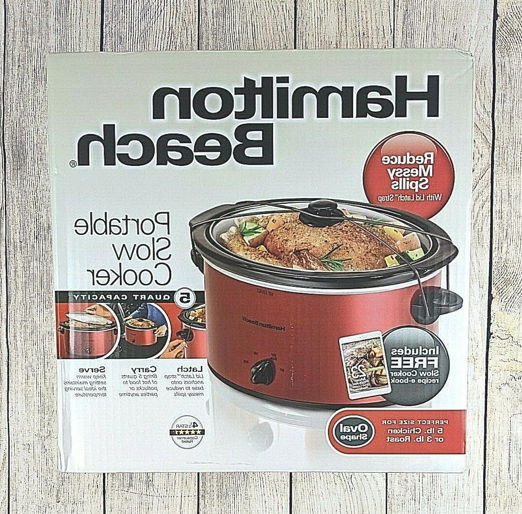 5 quart portable slow cooker dishwasher safe