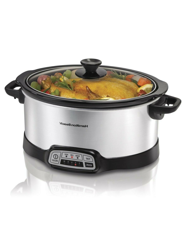 7qt slow cooker programmable crock pot