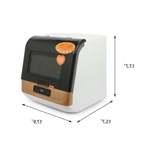 9-Liter Compact Dishwasher 360° Streak-Free Deep Cleaning