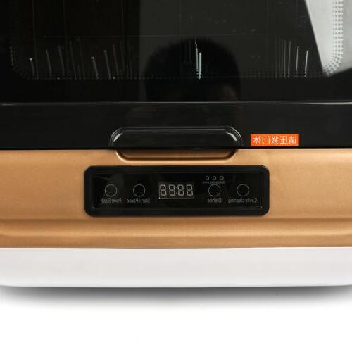 9-Liter Portable Dishwasher 360° Cleaning