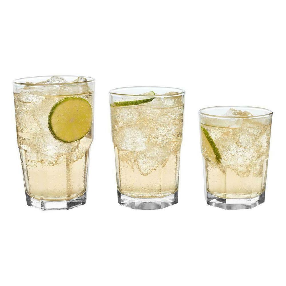 CLEAR SET Drinkware Dishwasher Safe Beverage Water Glass