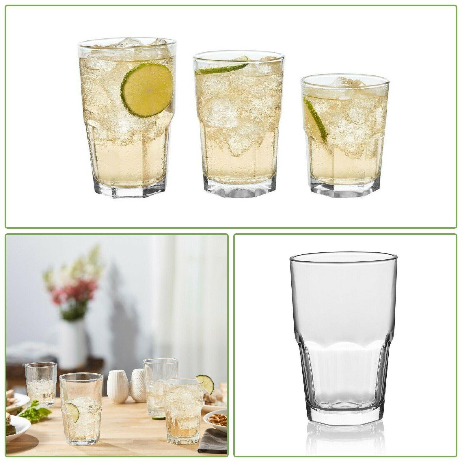 clear glass set kitchen drinkware dishwasher safe