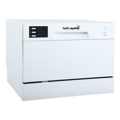 countertop portable dishwasher 6 place settings capacity