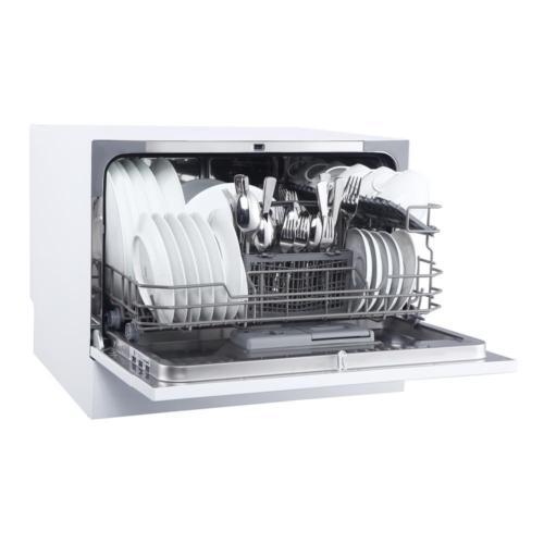 Countertop Dishwasher White 6 Place Settings Hygienic