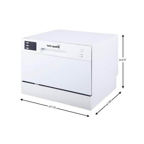 Countertop Dishwasher Portable in White with Settings
