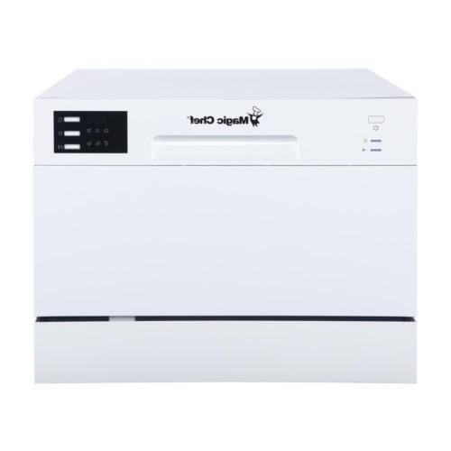 Countertop Dishwasher White with 6 Place Settings Capacity