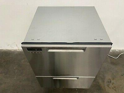 "Fisher Stainless 24"" Double DishDrawer"
