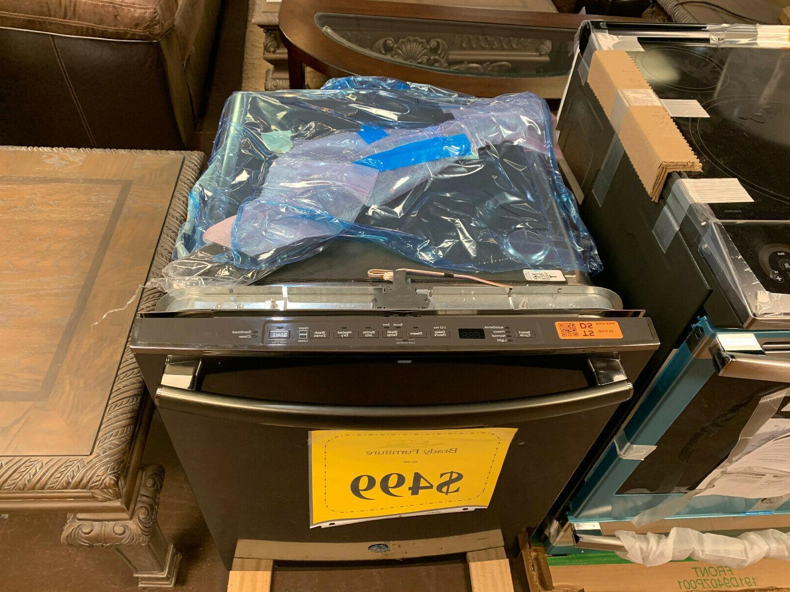 GE Black Stainless Integrated Dishwasher