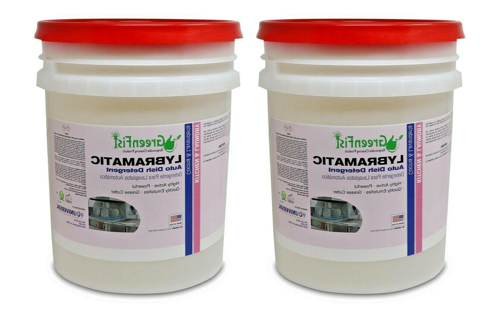 lybramatic commercial liquid dishwasher detergent ready to