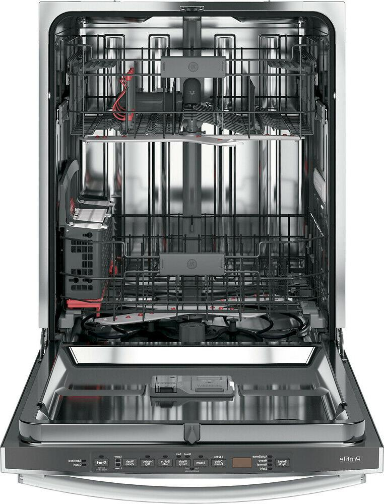 """GE - Profile? Series 24"""" Hidden Tall Tub Built-In Dishwasher Stainl"""