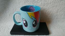 My Little Pony Blue Rainbow Dash Mug Hasbro 2013 Dishwasher