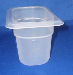 CAMBRO PLASTIC PREP FOOD TABLE INSERT 1/9 X 4 INCH PAN DISHW