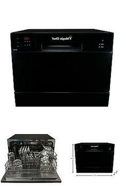 portable compact countertop dishwasher black home dorm