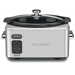 Cuisinart PSC-650 6.5 Quart Programmable Slow Cooker, Brushe