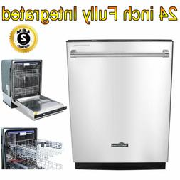 """24"""" Fully Integrated Dishwasher Compact Smart Energy Star Ap"""